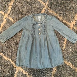 Baby Gap Denim Long Sleeve Shift Dress 18-24 mo